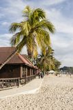 Langkawi, Malaysia, am 21. Dezember 2017: Schöner Strand von Langkawi Stockbild