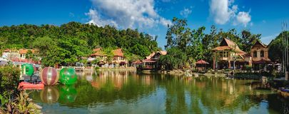 Luxury Paradise by the lake of Oriental Village. Langkawi, Malaysia - February 16, 2016: Oriental Village gateway to ride a cable-car up Mat Cingcang mountain Stock Photography