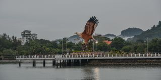 Eagle Square on Langkawi Island, Malaysia stock photography