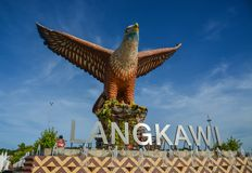 Eagle Square on Langkawi Island stock photos
