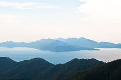 Langkawi - The Mountain. Landscape of Cable Car's Viewpoint in Langkawi, Malasia Royalty Free Stock Photography