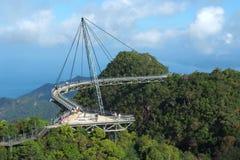 Langkawi's skybridge. Located in gunung mat cincang, Langkawi island, Malaysia Royalty Free Stock Photography