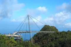 Langkawi's skybridge. An aerial view of langkawi\'s skybridge from above Royalty Free Stock Photos