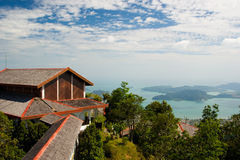 Langkawi sea hill sky Royalty Free Stock Photos