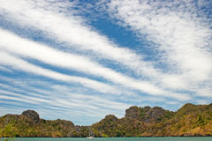 Langkawi sea hill sky. Langkawi sea blue sky fresh air tree Royalty Free Stock Photos