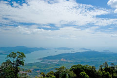 Langkawi sea hill sky Stock Image