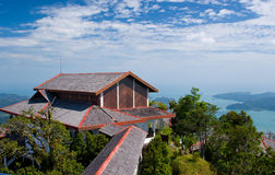 Langkawi sea hill sky. Langkawi sea blue sky fresh air tree Royalty Free Stock Photography
