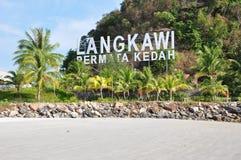 Langkawi-Signage Lizenzfreie Stockfotografie