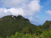 Langkawi Sky-bridge. Cable car station and Sky-bridge in Langkawi Island, Malaysia Stock Photo