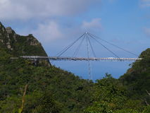 Langkawi Sky-bridge. Cable car station and Sky-bridge in Langkawi Island, Malaysia Royalty Free Stock Photography
