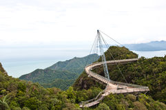 The Langkawi Sky Bridge in Langkawi Island Royalty Free Stock Image