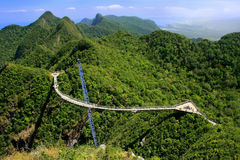 Langkawi Sky Bridge, Langkawi island, Malaysia Royalty Free Stock Photography