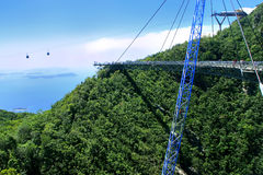 Langkawi Sky Bridge, Langkawi island, Malaysia Stock Photography