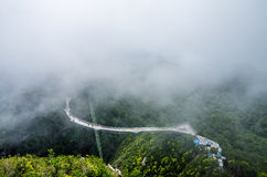 Langkawi Sky Bridge. Is a 125-metre curved pedestrian cable-stayed bridge in Langkawi Islands, Malaysia, completed in 2005. The bridge deck is located 660 Royalty Free Stock Image
