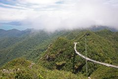 Langkawi Skybridge, high in the clouds Royalty Free Stock Photos