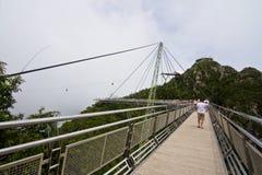 Langkawi SkyCab e ponte do céu, Kedah, Malásia Imagem de Stock