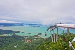 Langkawi SkyCab, Kedah, Malesia Fotografia Stock Libera da Diritti