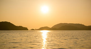 Langkawi solnedgång Arkivfoton