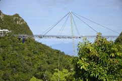 Langkawi verschob Skybridge auf Berg Machinchang Stockbild