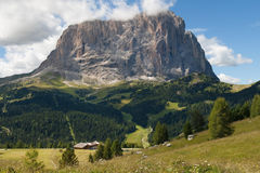 Langkofel, east face Royalty Free Stock Images
