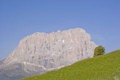 Langkofel en dolomías en el Tyrol del sur Imagen de archivo libre de regalías