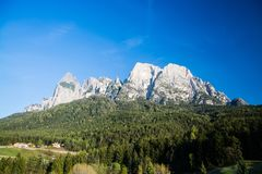 Langkofel Group, South Tyrol, Italy royalty free stock images