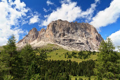 Langkofel - Sassolungo mount Royalty Free Stock Photos