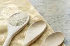 Langkorrelige rijsten Kokende Achtergrond royalty-vrije stock foto's