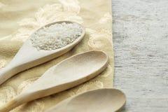 Langkorrelige rijsten Kokende Achtergrond Royalty-vrije Stock Foto