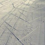 Langläufer-Spur im Schnee Lizenzfreie Stockbilder
