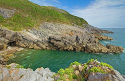 Langland Cliffs at Gower Stock Photos