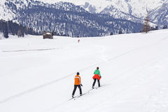 Langlauf do esqui corta-mato Foto de Stock