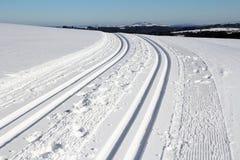 Langlaufen in Beieren Stock Fotografie