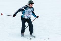 Langlaufskicompetities Stock Fotografie