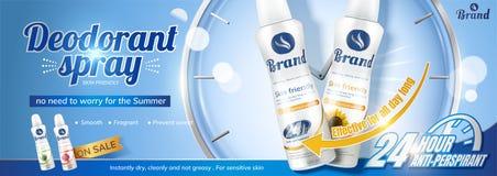 Langlebiger Spray des desodorierenden Mittels lizenzfreie abbildung