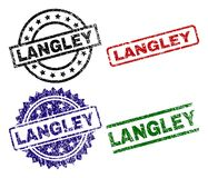 LANGLEY Seal Stamps texturisé rayé Illustration Libre de Droits