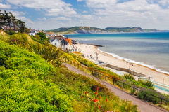 Langmoor and Lister Gardens Lyme Regis Royalty Free Stock Photos