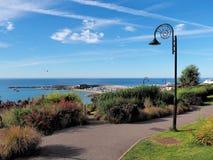 Langmoor tuiniert Overzicht - Lyme REGIS Royalty-vrije Stock Foto