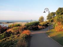 Langmoor tuiniert Overzicht - Lyme REGIS Stock Foto's