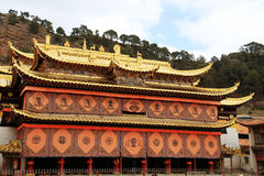 Langmu Temple of Tibetan Buddhism in China Royalty Free Stock Image