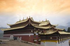 Langmusi tempel, sichuan Royaltyfri Bild