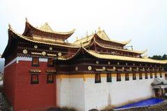 Langmutempel in Tibet stock afbeelding
