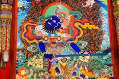 Langmutempel van Tibetaans Boeddhisme in China stock foto