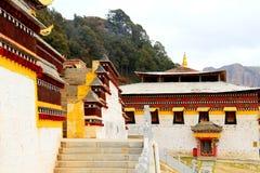 Langmutempel van Tibetaans Boeddhisme in China stock afbeeldingen