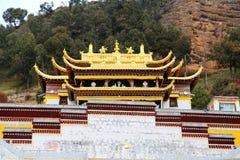 Langmutempel van Tibetaans Boeddhisme in China royalty-vrije stock afbeeldingen