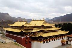 Langmutempel van Tibetaans Boeddhisme in China royalty-vrije stock afbeelding