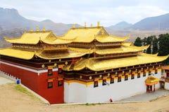 Langmutempel van Tibetaans Boeddhisme in China stock afbeelding