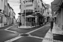 Langon streets. Langon street photography on black and white Royalty Free Stock Photography