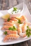 Langoustine appetizer Stock Images