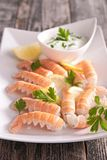 Langoustine appetizer Royalty Free Stock Images